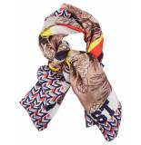 Oilily Zijden sjaal cosmic- grijs melange