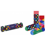 Happy Socks Xbdo02-6500 christmas cracker big dot gift box