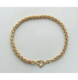 Christian 14 karaat gouden vossenstaart armband geel goud