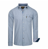 PME Legend Check declan forever blue shirt blauw