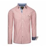 PME Legend Gingham print abel shirt rood