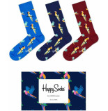 Happy Socks Sxpar08-6500 smu 3-pack parrot giftbox