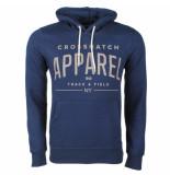 Crosshatch Hoodie sweat model flatleys navy blauw