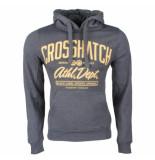 Crosshatch Hoodie sweat model ch hoody grijs