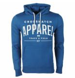 Crosshatch Hoodie sweat model flatleys blauw