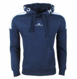 Crosshatch Hoodie sweat model lastnote navy blauw