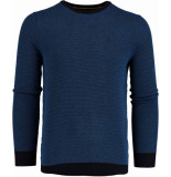 Bos Bright Blue Blue bince r-neck pullover flat kn 19305bi02sb/247 blauw