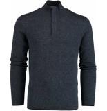 Bos Bright Blue Blue yumm half zip pullover fancy 19305yu19sb/290 blauw