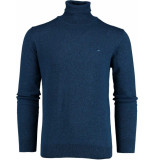 Bos Bright Blue Blue kenjio half zip pullover fanc 19305ke20bo/247 blauw