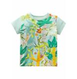 Oilily Jersey shirt to voor jongens groen- licht blauw