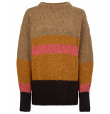Oilily Kay pullover stripe irregular- bruin