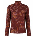 Oilily Torstine turtle neck reef paisley rosewood- bruin