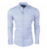 Dom Tower Heren overhemd met trendy design stretch wit