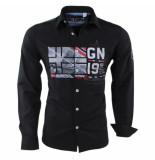 Geographical Norway Heren overhemd slim fit zalopark zwart