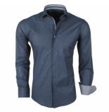 Enrico Polo Heren overhemd met trendy design stretch zwart