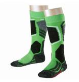 Falke Vivid kinder skisokken sk2 met verstevigde stukken groen