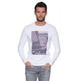 Calvin Klein T-shirt met lange mouwen wit