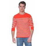 Scotch & Soda T-shirt met lange mouwen oranje