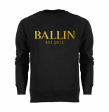 Ballin Est. 2013 Basic sweater gold zwart