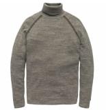 Cast Iron R-neck plated cotton melange grey melee grijs