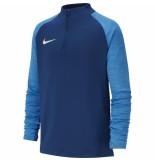 Nike B nk dry strke dril top at5893-435 blauw
