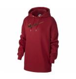 Nike W nsw hoodie bb os shine bv4986-677 rood