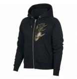 Nike W nsw hoodie fz bb shine bv4988-010 zwart