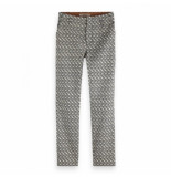 Maison Scotch Tailored pants jacqaurd grijs