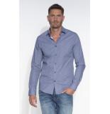 Cast Iron Casual overhemd met lange mouwen blauw