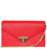 Michael Kors Grace md envelope clutch rood