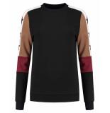 Nikkie Sweatshirt n8-846 colorblock zwart