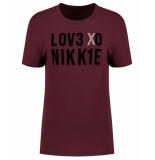Nikkie T-shirt n6-862 love rood