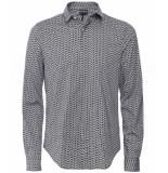 Emporio Armani Shirt print dessin blauw