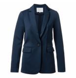 YAYA 150943-922 jersey slim-fitted blazer blauw