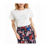 Alix 197891372 ladies knitted embroidered t-shirt. wit
