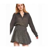 Alix 197988355 ladies knitted lurex mesh blouse goud