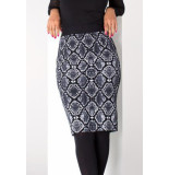 Juffrouw Jansen Alora w-19 hs617 pencil skirt antraciet