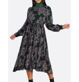 Summum 5s1074-10980 dress flower print groen