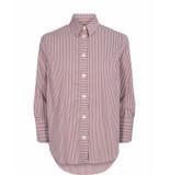 Mos Mosh 128980 rina stripe shirt 7/8 paars