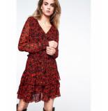 Alix 194311206 ladies woven two tone chiffon dress rood