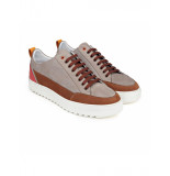 Melik H32 sneaker Liv Taupe - Cognac - Rood