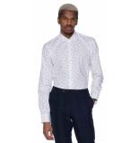 Scotch & Soda Casual overhemd met lange mouwen wit