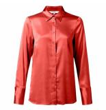 YAYA 110105-922. satin shirt rood