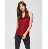 Selected Femme 16068445 slfella lace singlet rood