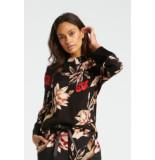 YAYA 110199-921 kimono blouse with floral print