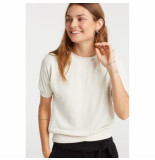 YAYA 1009168-921 sweatshirt with short sleeves beige