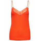 Selected Femme 16057357 slfmio rib lace singlet rood