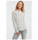 YAYA 1101101-922 shirt with ruffles