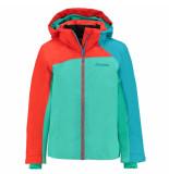 Schöffel /oranje/blauwe meisjes ski jas le havre met 10.000mm waterkolom groen