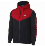 Nike M nsw hbr+ hoodie fz flc 931900-011 zwart